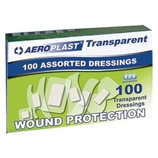 Aeroplast Transparent Assorted Plasters, Box of 100