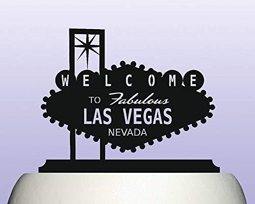Acryl Las Vegas Welcome-Zeichen Souvenir Geschenk Kuchen Topper für Jahrestag Party Dekorationen Geburtstage Hochzeit Mottoparty Kuchen Dekoration in Ihrer Farbe