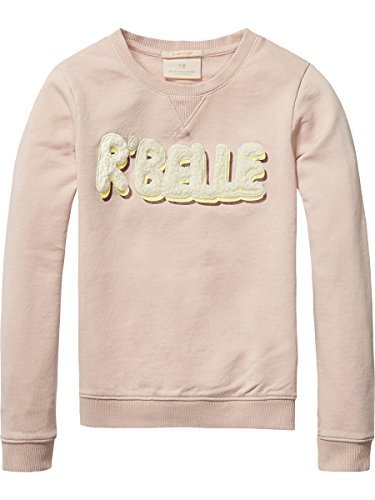 scotch-soda-rbelle-madchen-sweatshirt-crew-neck-sweat-with-logo-artworks-rosa-sea-shell-495-140-hers