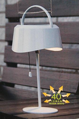 Kamaca LED Solar Tischlampe, 40 Lumen, warmweiß, für den Außengebrauch, mit Dämmerungssensor und Kordelzug zum EIN- und Ausschalten, 13 cm hoch -