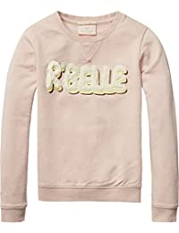 Scotch R'Belle Crew Neck with Logo Artworks, Sweat-Shirt Fille