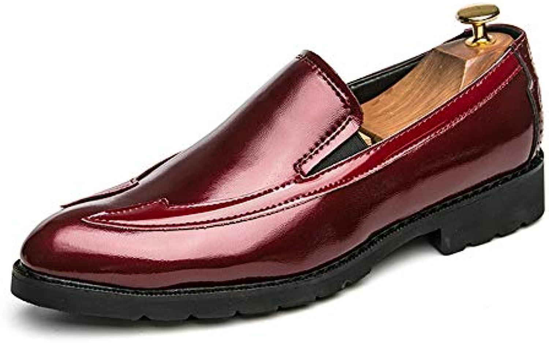 Xiazhi-scarpe, Scarpe da Ufficio in Pelle Oxford Business Business Business Casual da Uomo con Cuciture Confortevoli (Coloree   Rosso... | Di Alta Qualità E Low Overhead  | Uomini/Donne Scarpa  bddfb6