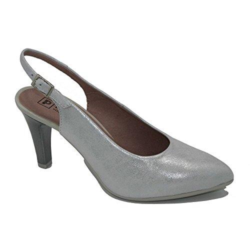 PITILLOS, Scarpe col tacco donna argento Size: 38