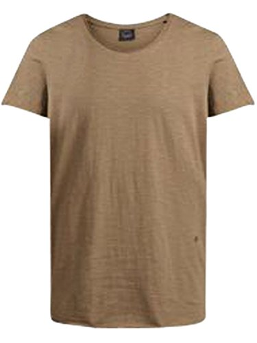 JACK & JONES Herren T-Shirt Jorbas Tee SS U-Neck NOOS Tigers Eye