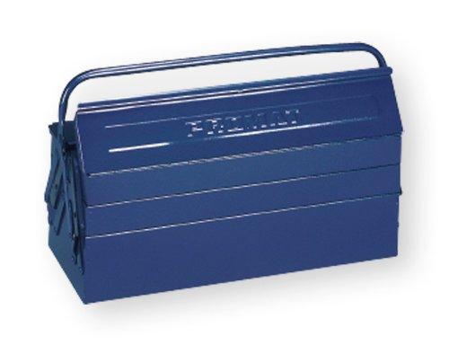 PROMAT 871262 Werkzeugkasten 3tlg. 530x200x150mm Stahlblech blau PROMAT Griff umlegbar