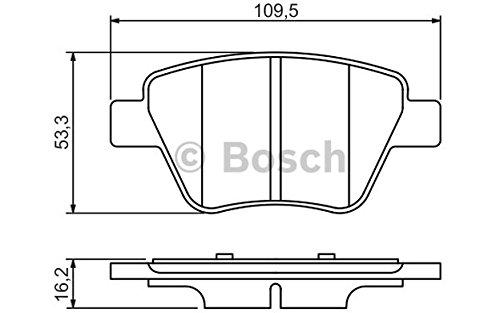 Preisvergleich Produktbild BOSCH 0 986 494 416 4x Bremsbeläge hinten