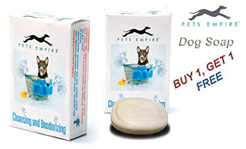 Pets Empire Dog Cat Cleansing and Deodorizing Dog Soap, Almond with Shea Butter, 65 g (Pack of 2)