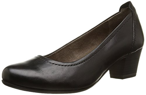 Tamaris 22306, Decolleté chiuse donna, Nero (Schwarz (schwarz (BLACK001))), 37