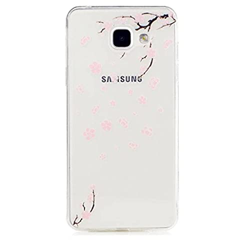 MUTOUREN Samsung Galaxy A5(2016)A510F TPU case cover Shock-Absorption Bumper with Anti-Scratch Clear Back Ultra Slim Shockproof-Peach blossom