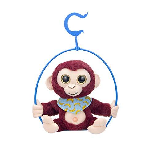 KoojawindHablar y Cantar Lindo muñeco de Peluche Mono Animado Muñeca electrónica interactiva Repite lo Que Dices Juguete de Peluche electrónico, Regalo para niño y niña