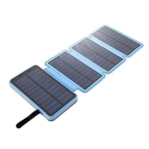 LTKKK Solar Power Ladegerät, Double USB Faltbrett DC5V / 2.0A Ausgangsladeschatz, polykristallines 6W Hochleistungs-Mobilfunknetzteil, 162 * 88 * 36mm, für Smartphones Tablets und mehr - Solarenergie-handy-fall