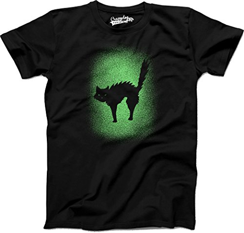 Crazy Dog TShirts - Youth Glow In The Dark Cat T Shirt Cool Halloween Scary Cute Tee For Kids (black) L - jungen - (Halloween Kostüm Kinder Nerd Für)