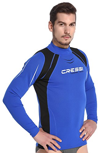 Cressi Vest Man Long Sl Herren Thermo Rash Guard Protection Ärmel Lange, Blau, XL/5 (54) -