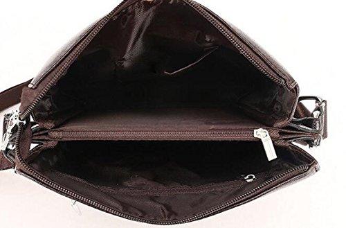 Männer Beutel Schulter Schiefes Kreuzpaket Heiliger Absatz Beiläufige Aktenkofferhandtaschenfreizeit Black