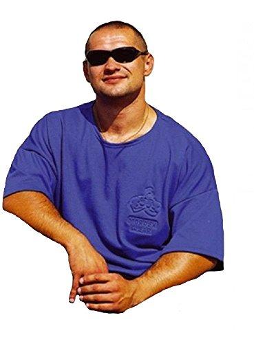 MORDEX BW T-Shirt fürs Gym, Fitness, Sport und Freizeit (blau, XL)