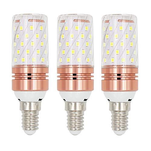 Gebildet E14 Energiesparende LED-Glühbirnen, 12W/1200LM, Tageslichtweiß 6000K, 360 ° Abstrahlwinkel, Kleine Edison-Schraube(SES), Energieklasse A+ (Pack of 3) -