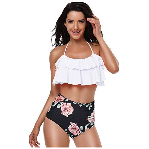 1553a7449d98 Bikini De 2 Piezas para Mujer Traje De Halter Baño De Playa,J-S