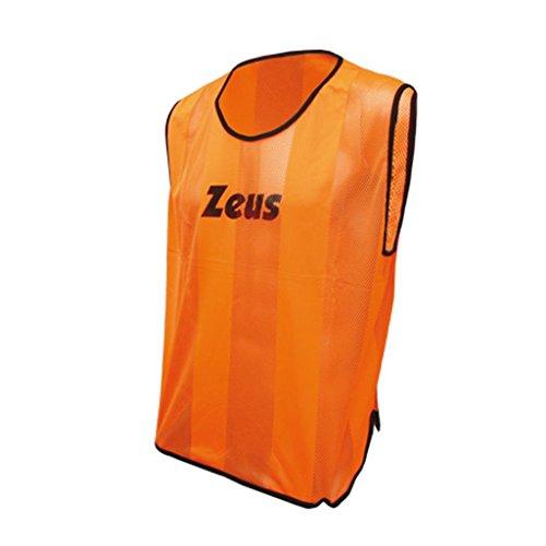Zeus Herren Markierungshemden Trainingsleibchen Fußball Running Laufen Training Sport Trikot Shirt CASACCA PROMO (SENIOR, ORANGE)