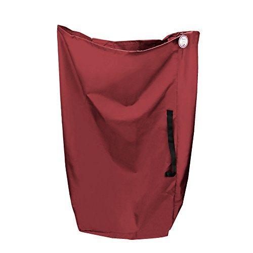 Zicac Kinderwagen Transporttaschen für Doppel-Kinderwagen und Regenschirm-Kinderwagen Spaziergänger Reisetransporttasche mit Schultergurt Praktische All-In-One Design für die Lagerung und Flughafen-Gatter Checken (110x87cm, Rot)