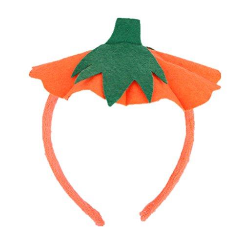 TOYMYTOY Halloween Haarreif Kürbis Kopf Stück Haar-Band Zubehör Party Kostüm Supplies Gastgeschenken (orange)