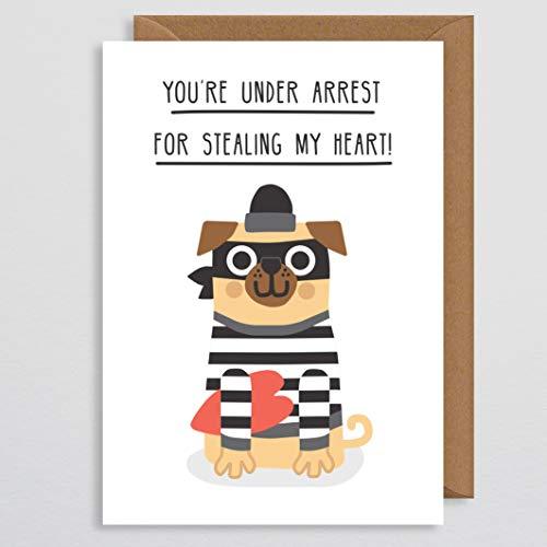 Hund Valentines Karte - Mops Valentines Karte - Mops Karte - Hund Karte - lustige Valentines Karte - für Hund - vom Hund - für ihn - Freund - Freundin - Ehemann - Frau - Paar - süß -
