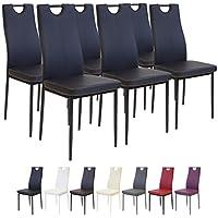 Albatros 2914 Salerno Lot de 6 chaises, Noir