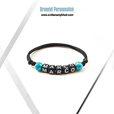 Bracelet MARCO personnalisé avec prénom (réversible) homme, femme, enfant, bébé, nouveau,né.