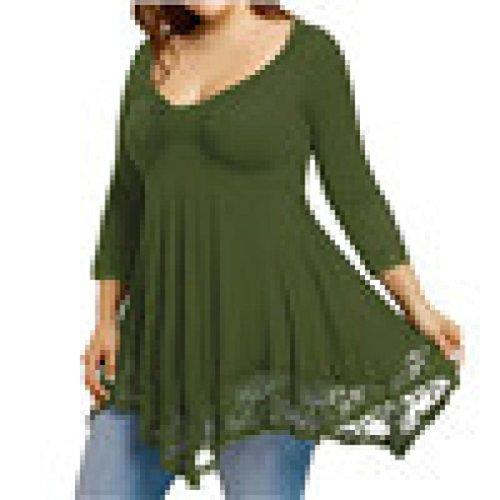 iHENGH Womens Leopard Blouse Long Sleeve Fashion Ladies T-Shirt Oversize Tops