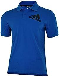 adidas Spelto Polo Mens Herren Regular Poloshirt Shirt Blau