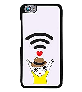 Vizagbeats WIFI Boy Love Back Case Cover for MICROMAX FIRE 4 A107