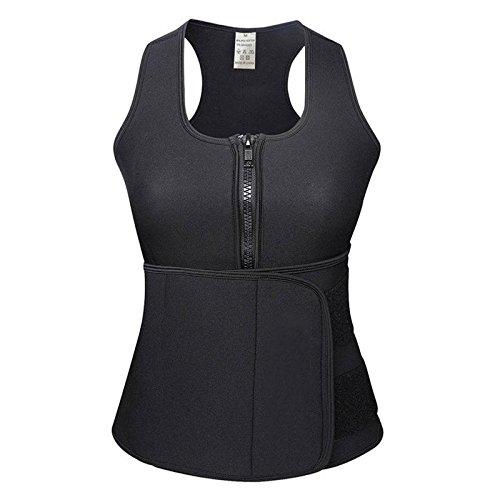 House Of Sensation House Of Sensation Best Quality Waist Adjustable Belt Sweat Sauna Slimming Belt Body Shaper Waist Trainer Vest Workout Shapewear - (Black),(Size -Xl)