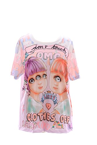 T-16 Zwilling Twins Monster Girl Funky T-Shirt Lolita Harajuku Japan Pastel Goth Kawaii-Story (Frauen T-shirts Story Toy)