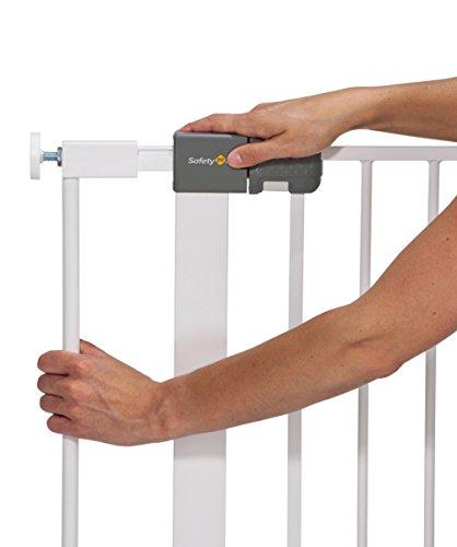 Safety 1st Quick Close Plus Treppenschutzgitter, extra sicheres Metall, Türschutzgitter zum Klemmen, weiß, bis 136 cm verlängerbar - 5