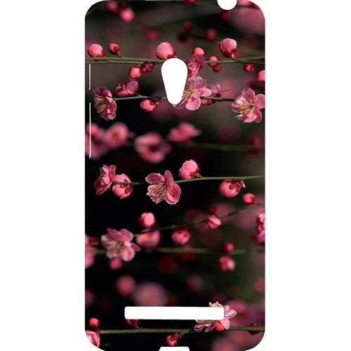 Casotec Pink Flowers Design Hard Back Case Cover for Asus Zenfone 5 A500CG