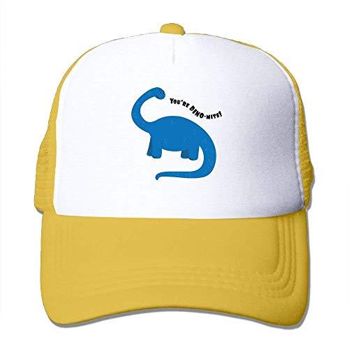 Preisvergleich Produktbild Wamnu DYou're Dino-Mite Mesh Hat Baseball Caps Funny Grid Hat Adjustable Trucker Cap