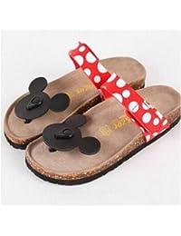 HuWang 2014 Corea del Sud Carino Fumetto Mickey Minnie Mouse DOT  Confortevole Estate Cool Infradito Pantofole 8fbcf5f7d67