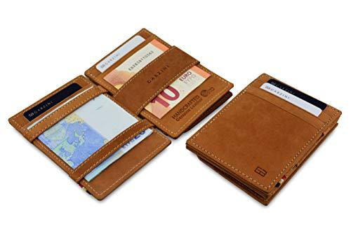 Garzini Dünner Minimalistischer Magischer Geldbeutel aus echtem Leder mit RFID-Blocker und Münzfach für Männer Burton Magic