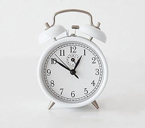 KHSKX Student kreative Nachttisch Wecker, Retro-gewundenen Uhrwerk Wecker, Stimme von
