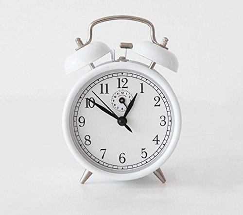 KHSKX Student kreative Nachttisch Wecker, Retro-gewundenen Uhrwerk Wecker, Stimme von reinem Kupfer mechanische Wecker , [spring alarm clock] metal (Metal Zone Kostüm)
