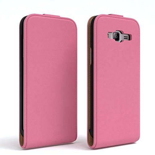 Samsung Galaxy J3 Hülle - EAZY CASE Premium Flip Case Handyhülle - Schutzhülle aus Leder zum Aufklappen in Rosa Rosa