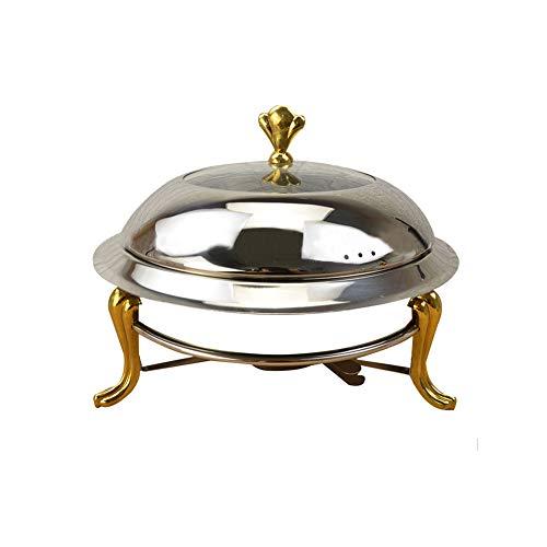 Edelstahl Runde Buffet Chafer mit Deckel und Chafing Brennstoffhalter 17,8 cm Chafing Dish für Warmhaltetablett Catering Buffet Küche Party Essen Chafer-chafing Dish