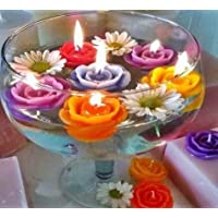 MoonShine™ Floating Candles   Multicoloured   Pack of 12 Pcs.