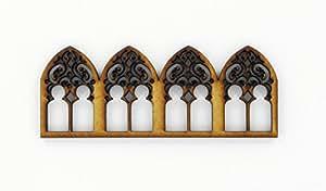 Frise vitrail - MDF - 10 x 4cm - Terre et Bois Créations