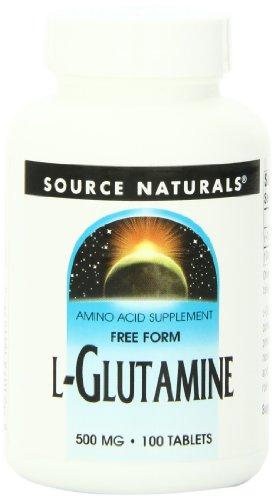 Source Naturals - Free Form L-Glutamine 500 mg - 100 Comprimés