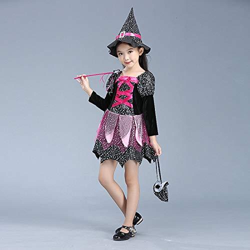 Kostüm Kinder Großhandel - wojiaxiaopu Neues Halloween Cosplay Kostüm Halloween Hexen Mädchen Kostüme Halloween Kinderkleidung Großhandel 1 110CM