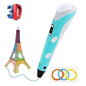 3D Stift,BelleStyle 3D Druck Stift für Kinder Scribble Zeichnung Drucker Stift mit 3 PLA Filamente Minen für Kinder, Erwachsene, Kritzelei, Zeichnung und Kunst & handgefertigte Werke