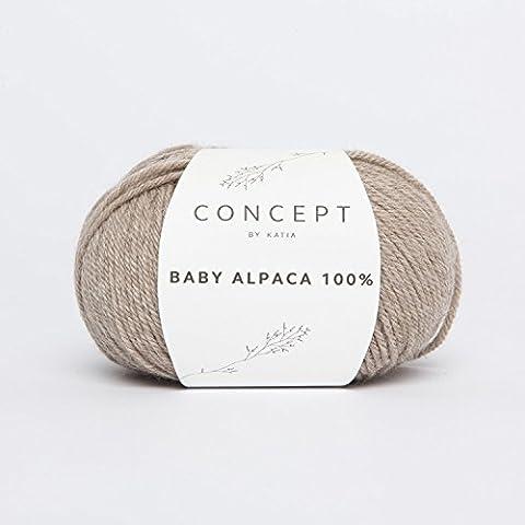 Katia Concept bébé alpaga 100% DK Couleur 502(Norme) Pelote de 50g 100% bébé alpaga 125Mts. à l'aide d'aiguilles de 3,5–4mm