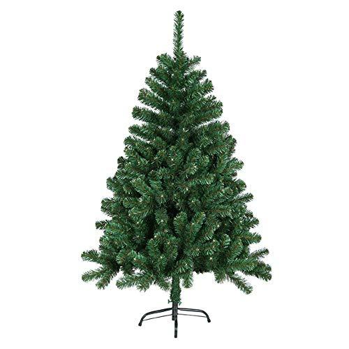 MCTECH 180 cm Albero di Natale con supporto - Abete Albero Albero di decorazione in PVC verde (120 cm)