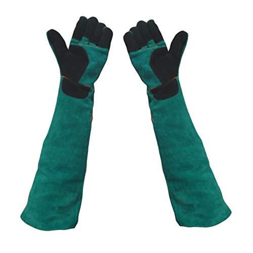 Haarentferner Gloves Hochwertige Lederhandschuhe für die Tierhandhabung beißen Beweis - Auffüllen Hundekatze-Kratzer-Vogelhandhabung-Falke-Handschuhe Massage Werkzeug