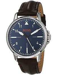 0d619145a499 Hugo Boss Orange Mixte Analogique Quartz Montre avec Bracelet en Cuir  1550060